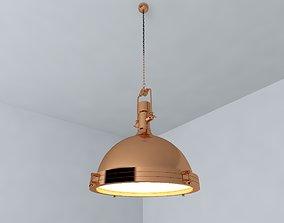 Brass Pendant Lamp hall 3D