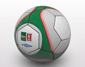 FA Cup Ball 2009 - Green - Trophy 3D model