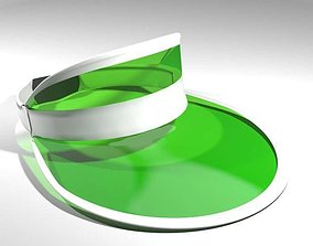 Hat - Green Eyeshade 3D model