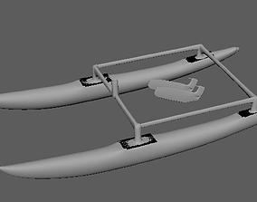 3D print model Hobie 16 sailing catamaran