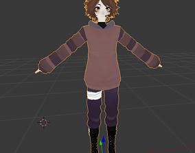 3D model rigged Tobby