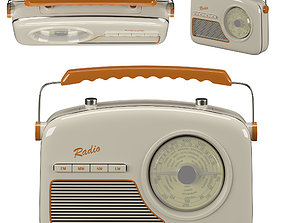 Radio 3D model PBR