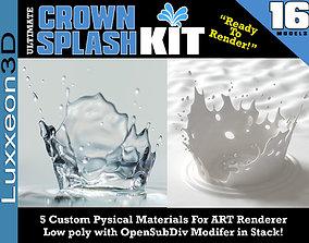 3D asset Ultimate Crown Splash Kit