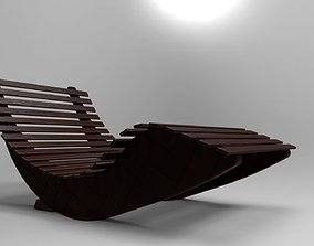 Modern rocking lounge chair 3D