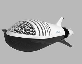 3D Big Falcon Rocket - BFR - 2019 - SpaceX - Spaceship