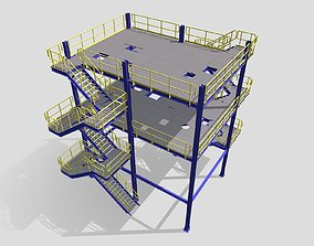3D print model Process Plant UAE - Steel Structure