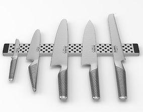 3D model Global knifeset