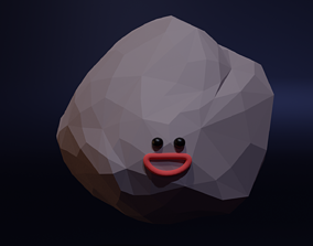 Happy Astroid - Funny Cartoon Style Lowpoly 3D model