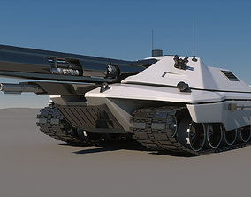 3D Sci-Fi Future Tank Concept