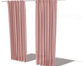 3D model Curtain Thick Designed Coloured