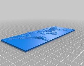 World Map 3D print model