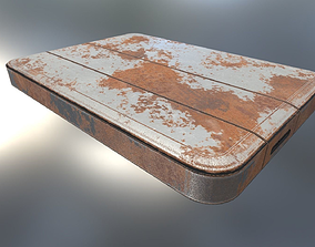 External Hard Drive Low Poly Rusty Version - 3D asset 2