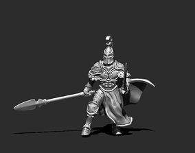 miniature knight 3D print model - champion 35mm scale