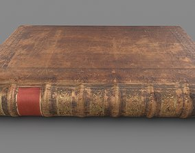 Old book hardcover-book 3D asset realtime