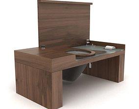 Hidden Wooden Toilet 3D
