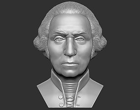 George Washington bust 3D printing ready stl obj