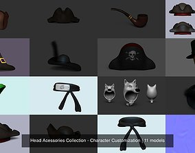 Head Acessories Collection - Character 3D model