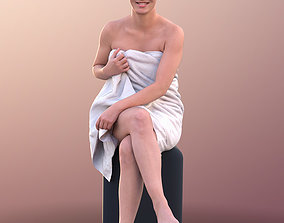 3D model 10650 Nadin - Young Girl Sitting In A Sauna With