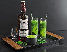 Matcha Cocktail Set 3D