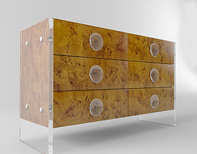 Jonathan Adler BOND SIX-DRAWER CREDENZA beautiful 3D