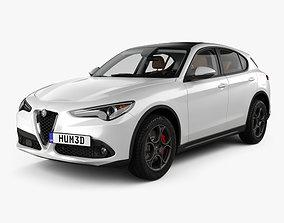 Alfa Romeo Stelvio Q4 with HQ interior 2017 3D