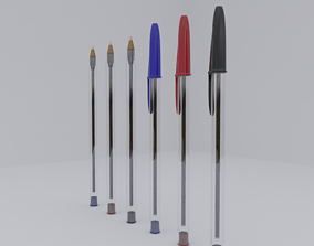 stationary Ballpoint Pen 3D