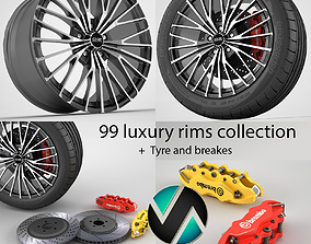 99 rims mega pack 3D model