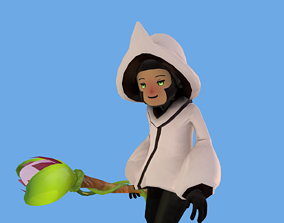 3D asset UPDATED GAME READY Stylized LowPoly Healer Class
