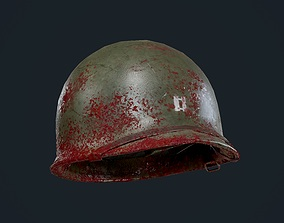 3D asset WW2 American Soldier Military Helmet Game
