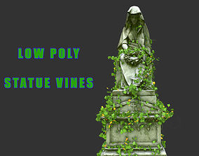 3D asset Statue Vines 020 - Low Poly