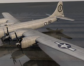 Boeing B-29N Superfortress - NUKE 3D model