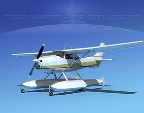 3D Cessna 182 Skylane Seaplane V13