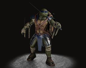 TMNT Leonardo rigged 3D asset