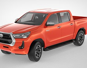 3D model Toyota Hilux Double Cab 4WD 2020