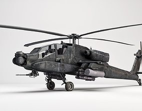 3D AH-64 Apache Helicopter