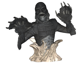 various 3D model Creature From The Black Lagoon