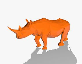 Rhino in Low Poly Style 3D model