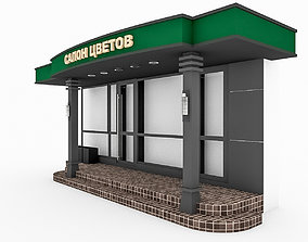 3D Coffee Shop Entrance