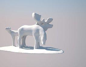 moose family 3D printable model