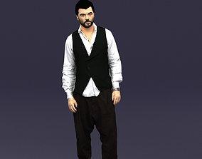 Stylish man in a vest 0432 3D Print ready