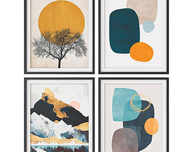 3D model A set of paintings in the Scandinavian style 007
