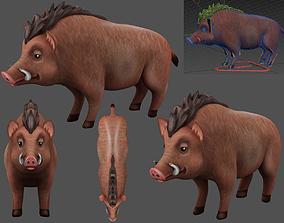 animated boar 3d