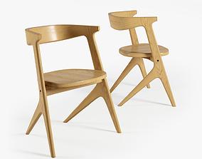 3D chair wood slab