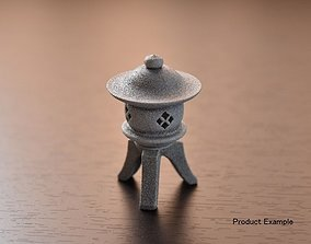 traditional 3D printable model Japanese Stone Lantern