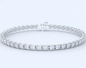 3D print model Elegant bracelet with princess stones 458