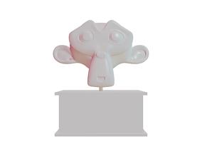 3D Cartoon Monkeyhead Statue