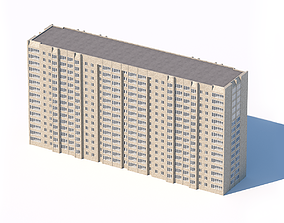 3D model typical residential city building