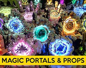 Magic Portals and Props 3D asset