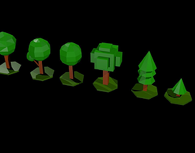 3D model Low polygonal trees