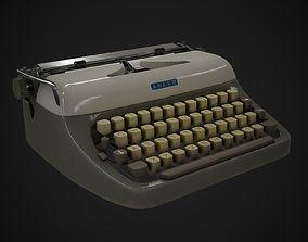 Typewriter Adler Primus 3D asset